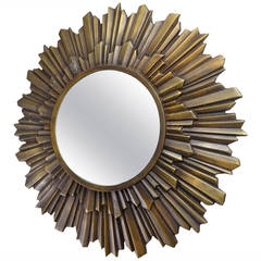 Small Bronze Starburst Mirror