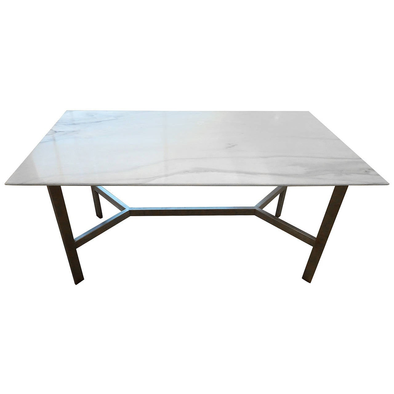 Mid Century Marble Dining Room Table At 1stdibs