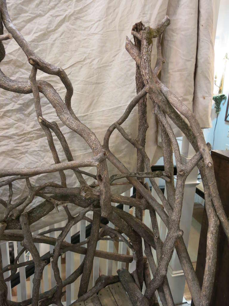 Vintage Rhododendron Twig Bench At 1stdibs