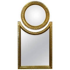 Stunning Hollywood Regency Style Jeweled Mirror
