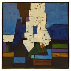 Latin American School Abstract Oil on Canvas