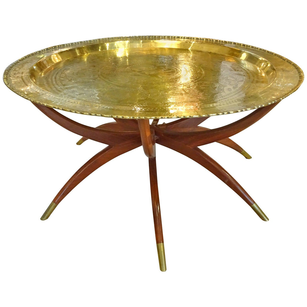 Coffee Table Legs Brass: Chinese Brass-Top, Spider Leg Coffee Table At 1stdibs