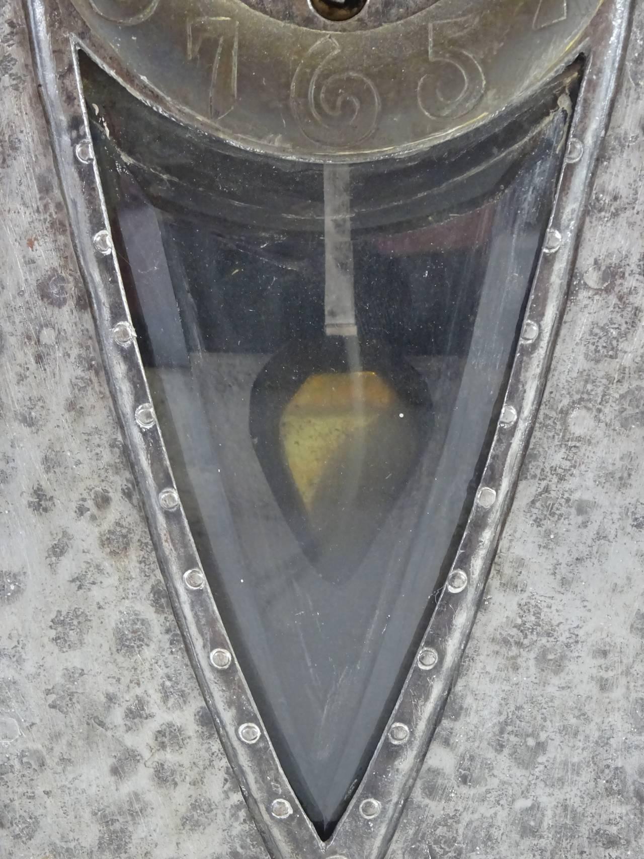 Art Nouveau Ludwig Hohlwein Iron Clock