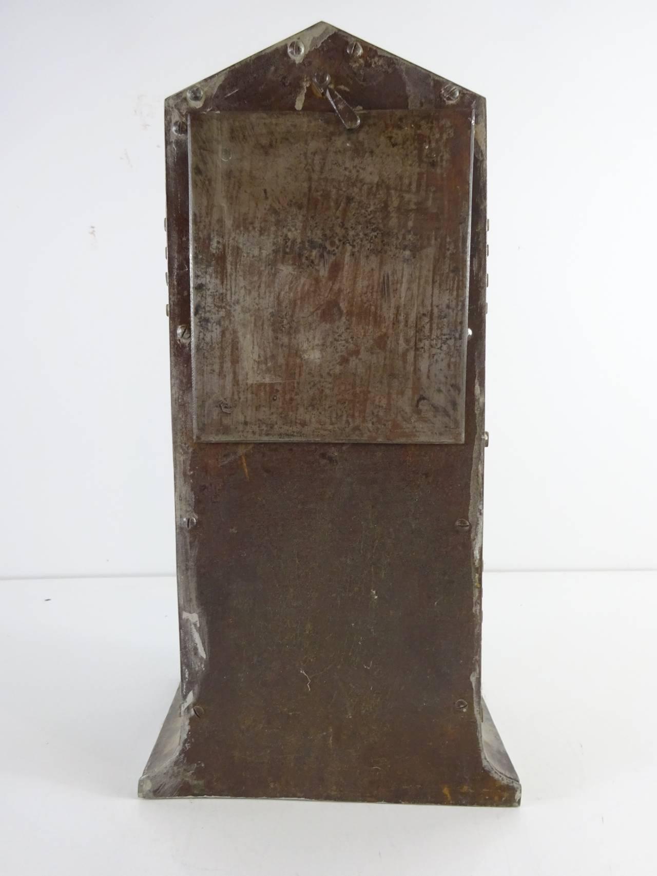 Early 20th Century Ludwig Hohlwein Iron Clock