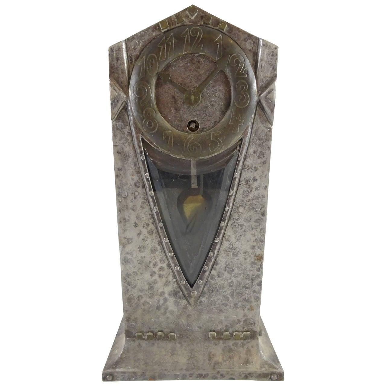 Ludwig Hohlwein Iron Clock