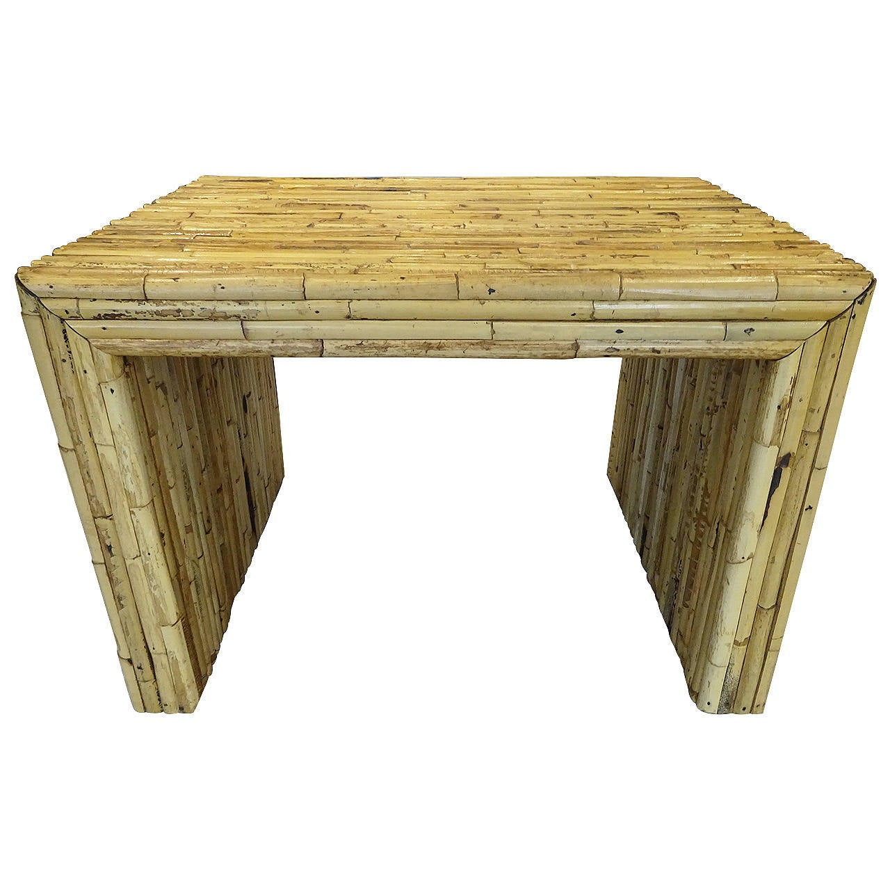 Architectural bamboo coffee table at 1stdibs for Architectural coffee table