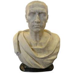 Antique Marble Portrait Bust of Julius Caesar