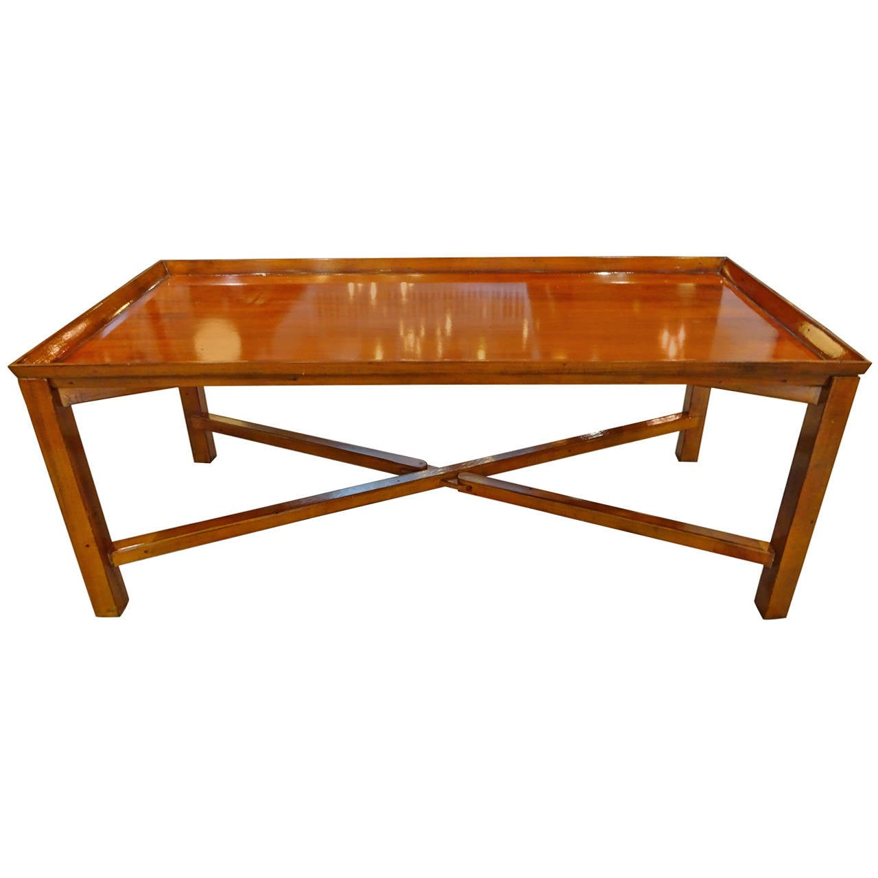 X Form Campaign Style Coffee Table At 1stdibs