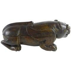 Grand Tour Bronze Lion Motif Box