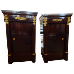 Pair of Empire Style Nightstands