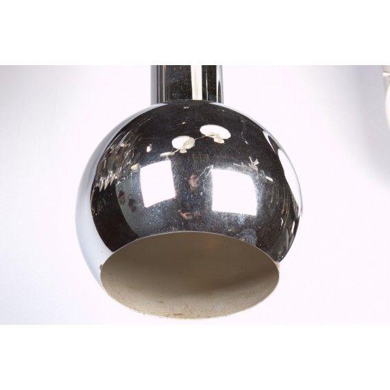 Italian 1970s Chrome Pendant Light For Sale At 1stdibs