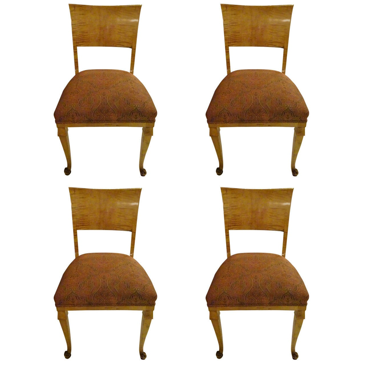 Four Biedermeier Dining Chairs at 1stdibs