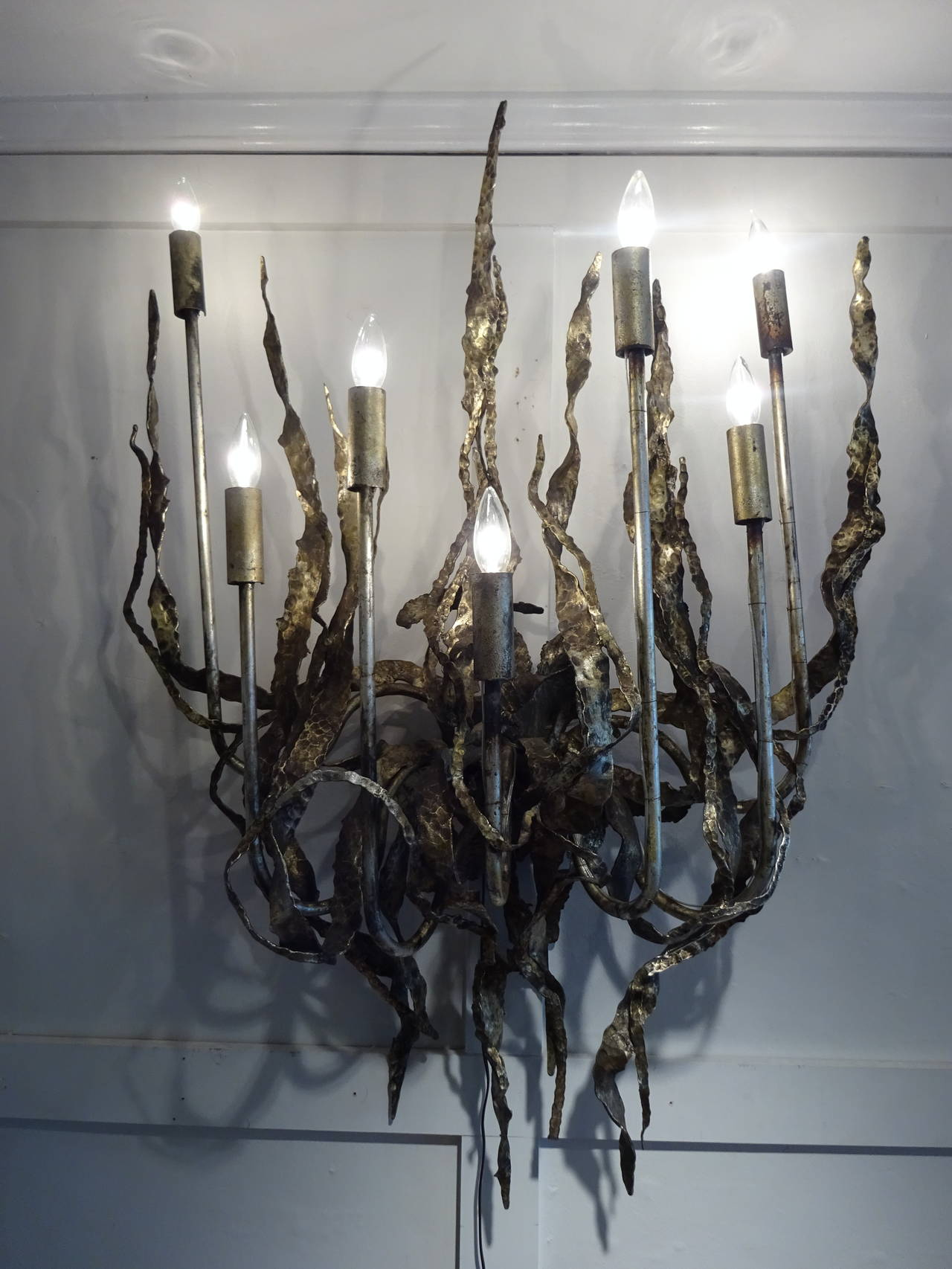 Skyrim Wall Sconces Not Working : Massive Brutalist Wall Sconce For Sale at 1stdibs