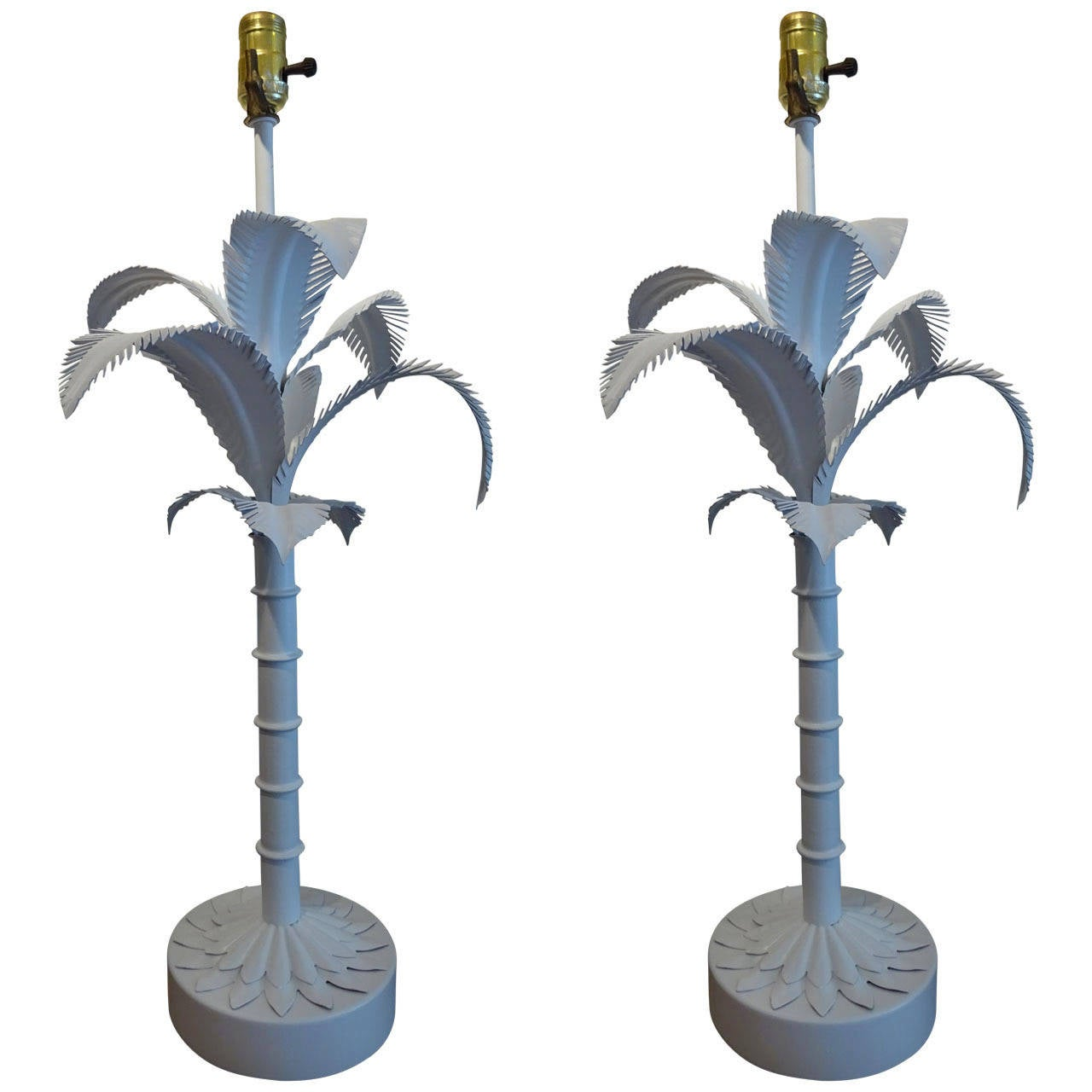 this pair of palm tree table lamps is no longer available. Black Bedroom Furniture Sets. Home Design Ideas