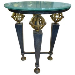 French Neoclassical Gilt Iron Gueridon