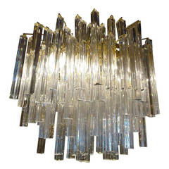 Large Mid Century Murano Glass Chandelier