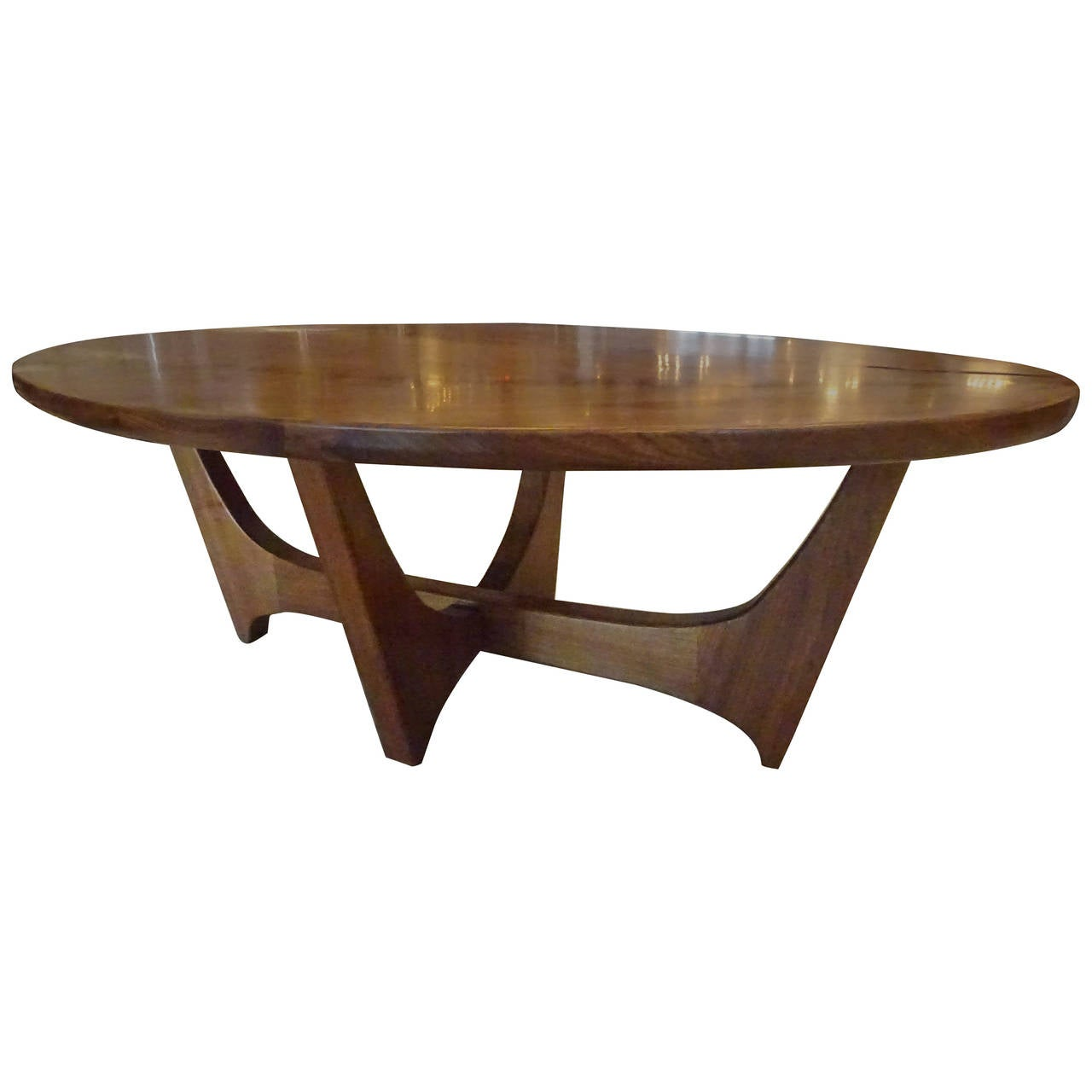 Modern walnut coffee table at 1stdibs for Modern coffee table