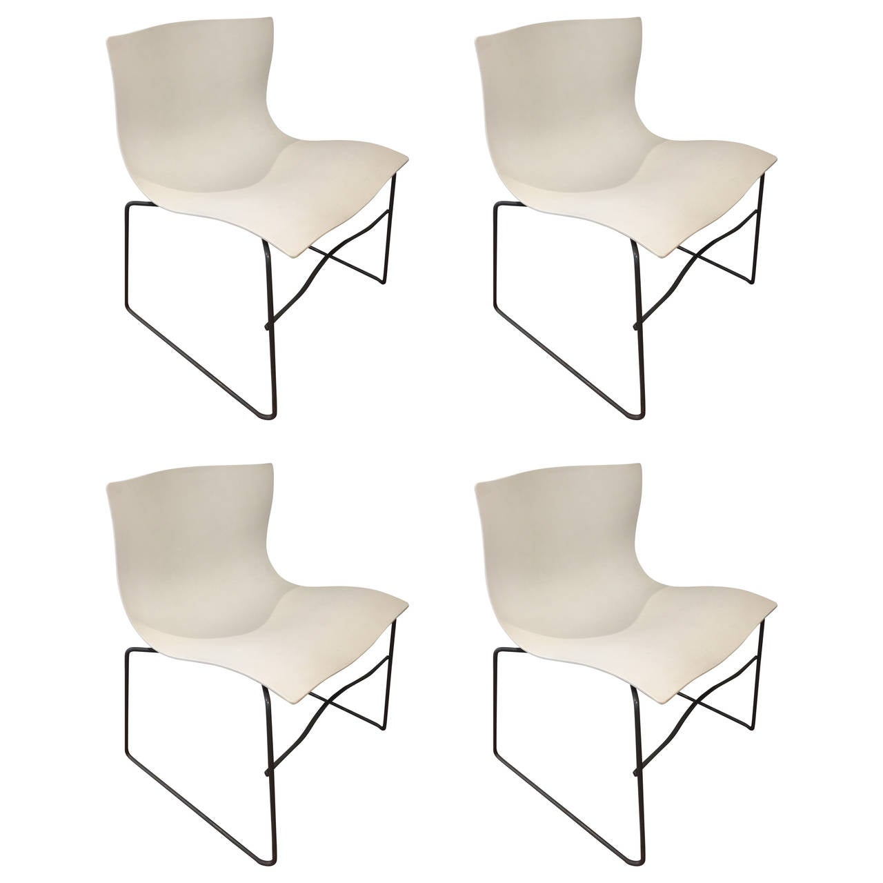 Four Knoll Handkerchief Chairs For Sale