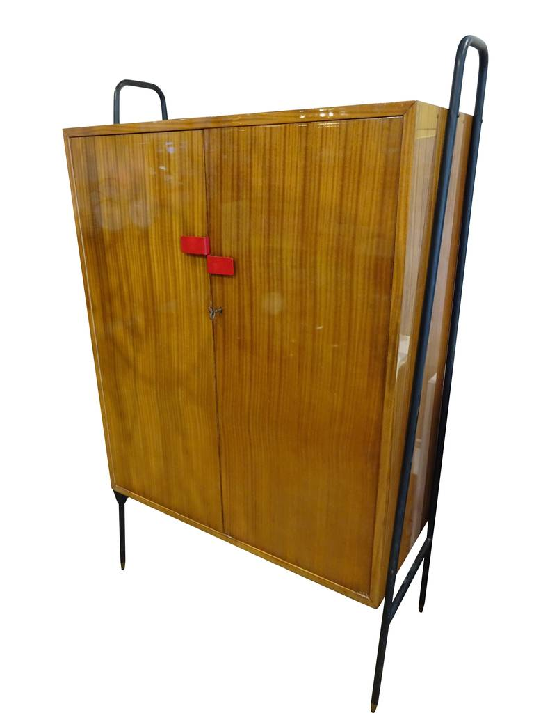 Italian modern lacquered teak cabinet for sale at 1stdibs for Modern teak kitchen cabinets