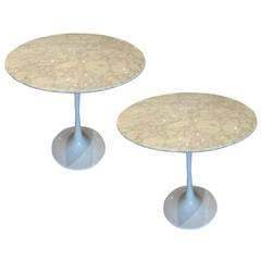Knoll Style Marble-Top Side Table