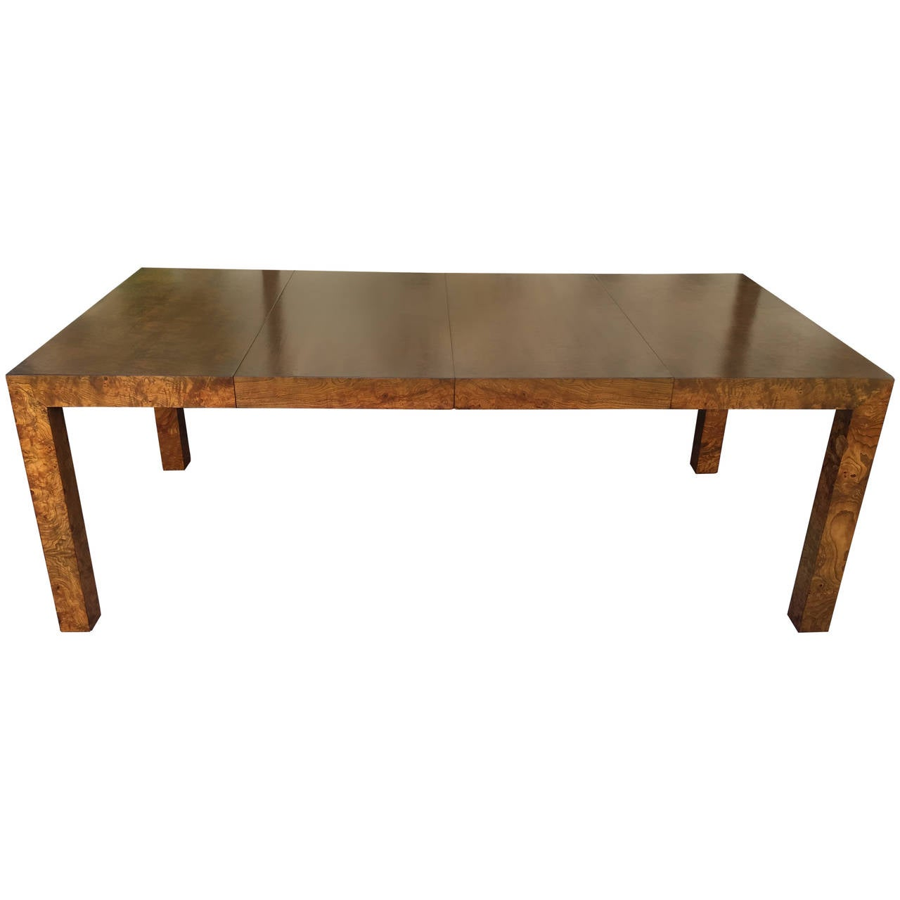 Gorgeous Burl Wood Dining Table By Milo Baughman For Thayer Coggin At