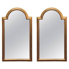 Pair of Labarge Gilt Pediment Mirrors