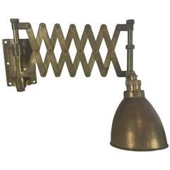 Vintage Brass Ships Scissor Sconce