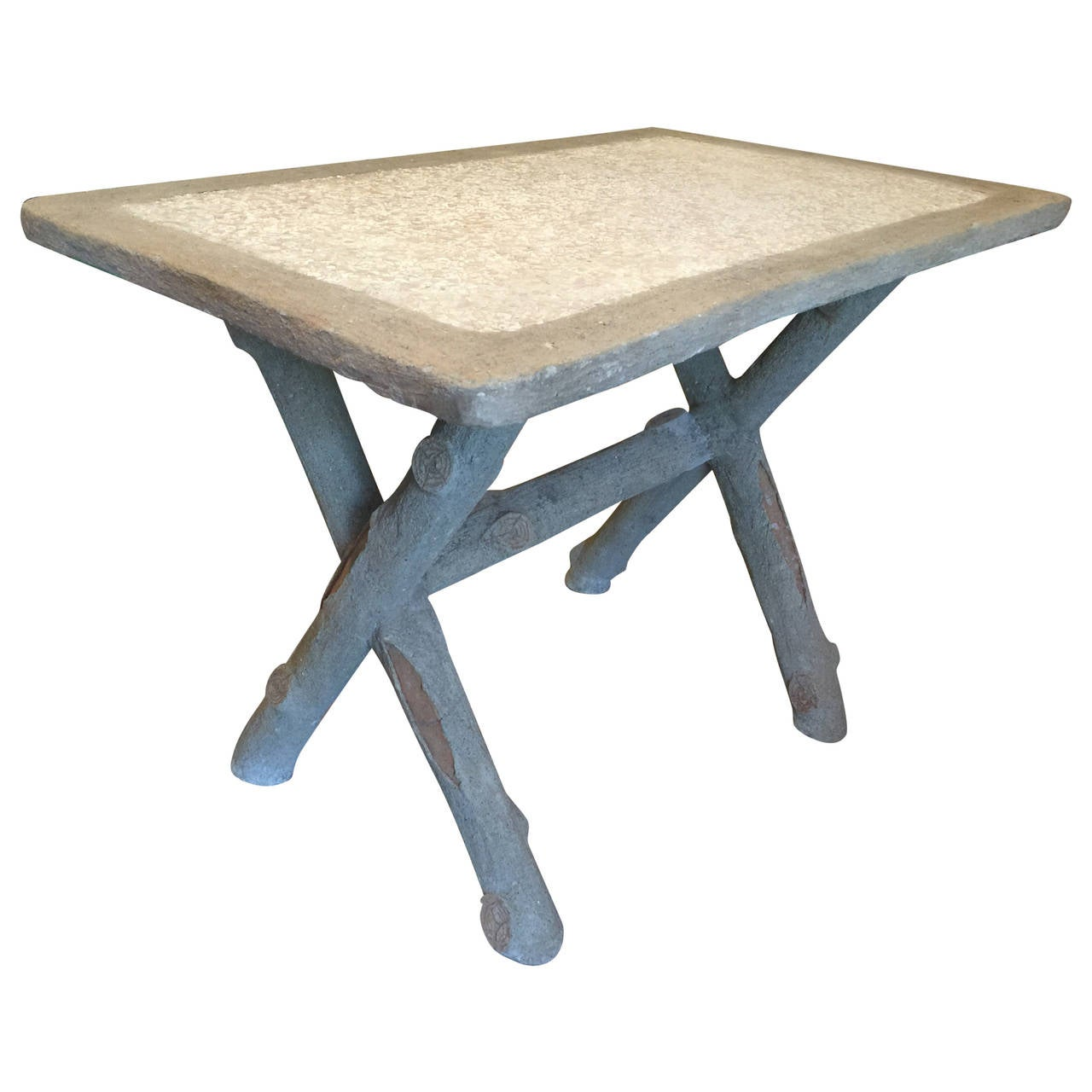 Vintage French Faux Bois Table For Sale at 1stdibs ~ Table Bois Vintage