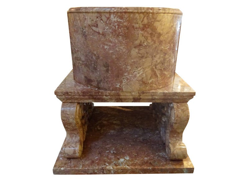 Large greek roman style marble chair at 1stdibs