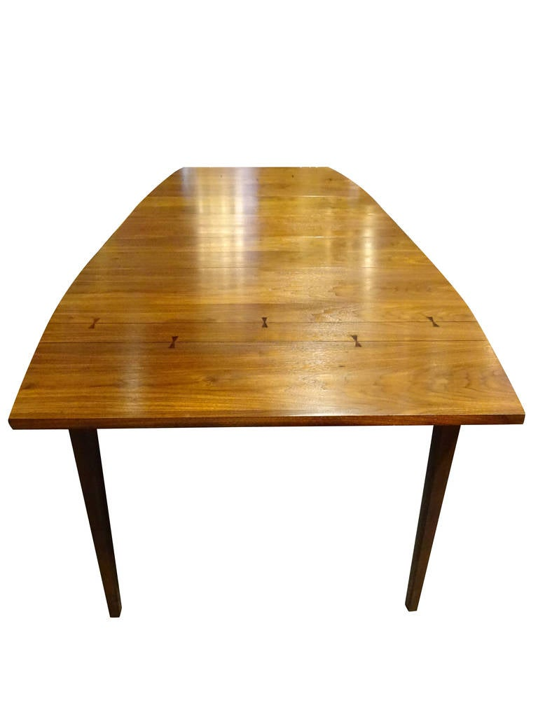 Danish modern walnut dining table at 1stdibs for Dining room tables 38 inches wide