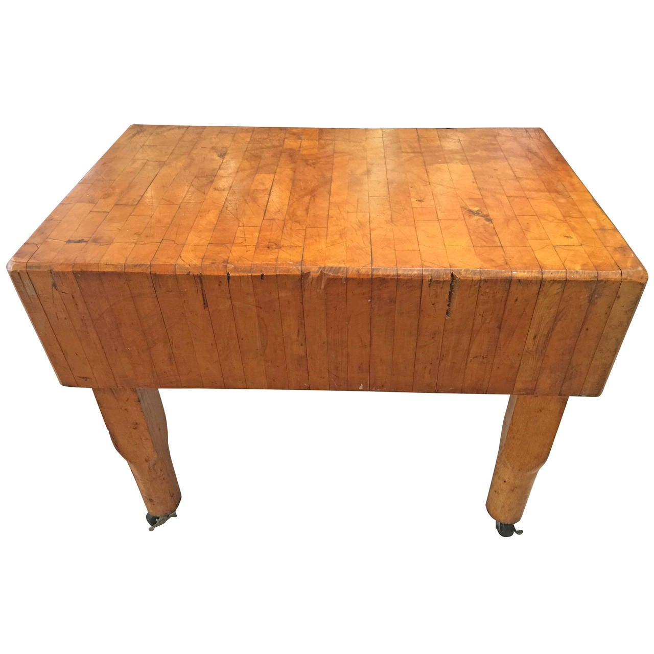 large vintage butcher block at 1stdibs