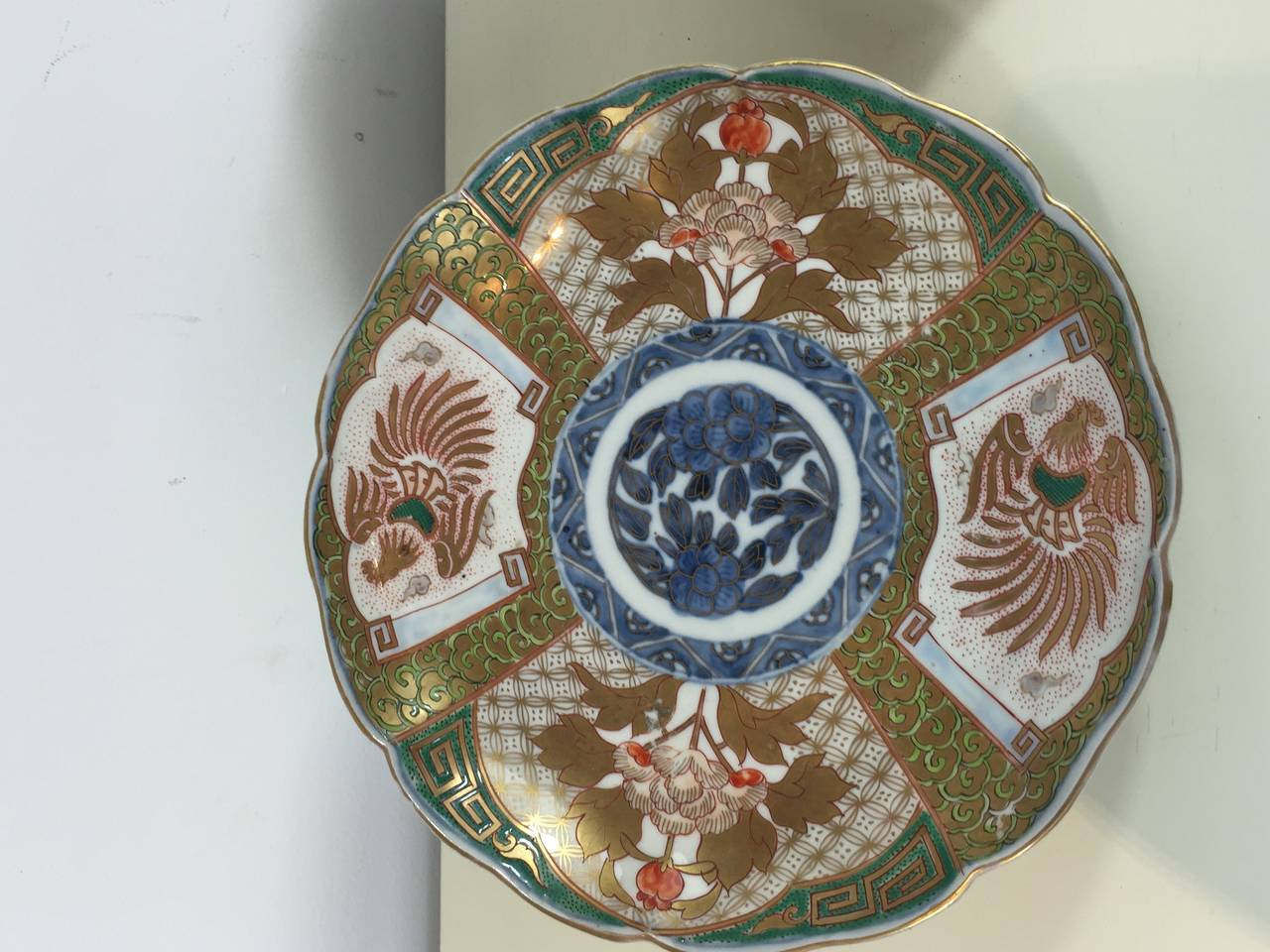 Meiji Pair of Fukagawa Imari Plates