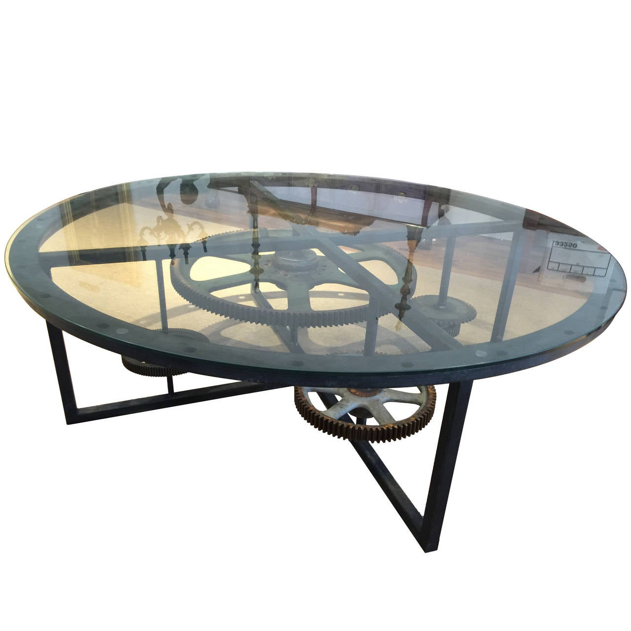 Large Industrial Coffee Table At 1stdibs