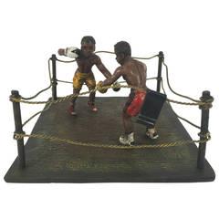 "Bergman Cold Painted Bronze ""Boxers"""