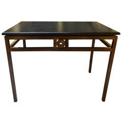Art Deco Style Acid Washed Bronze Console Table