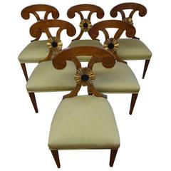 Six Austrian Biedermeier Chairs