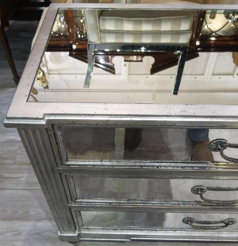 a pair of silver leaf hollywood regency commodes at 1stdibs