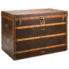 Louis Vuitton Damier Canvas Steamer Trunk, circa 1900s