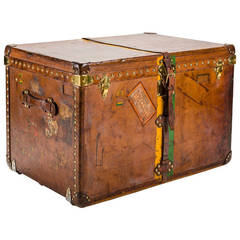 Louis Vuitton Calf's Leather Steamer Trunk, circa 1930s
