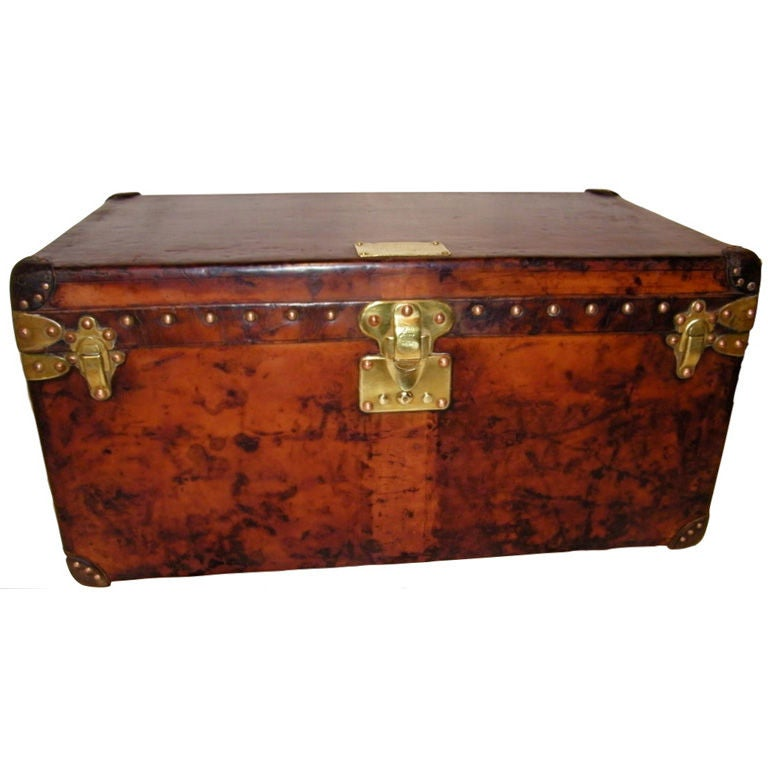 Louis Vuitton Calf Leather Trunk With Titanic Provenance