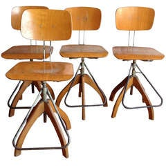 Vintage Pollsterglich Stools - Set of Four