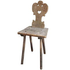 Antique Rustic Farm Chair from Tuscany