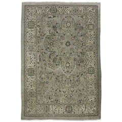 Late 19th-Early 20th Century Persian Mahal Handwoven Wool Rug