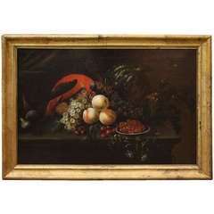 18th Century Italian Oil on Canvas Still Life