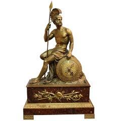19th Century Italian Empire Neoclassical Bronze Ormolu and Rosso Antico Marble