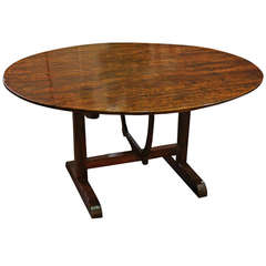 18th Century French Walnut Wine Tasting Table