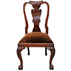 18th Century Queen Anne Mahogany Side Chair