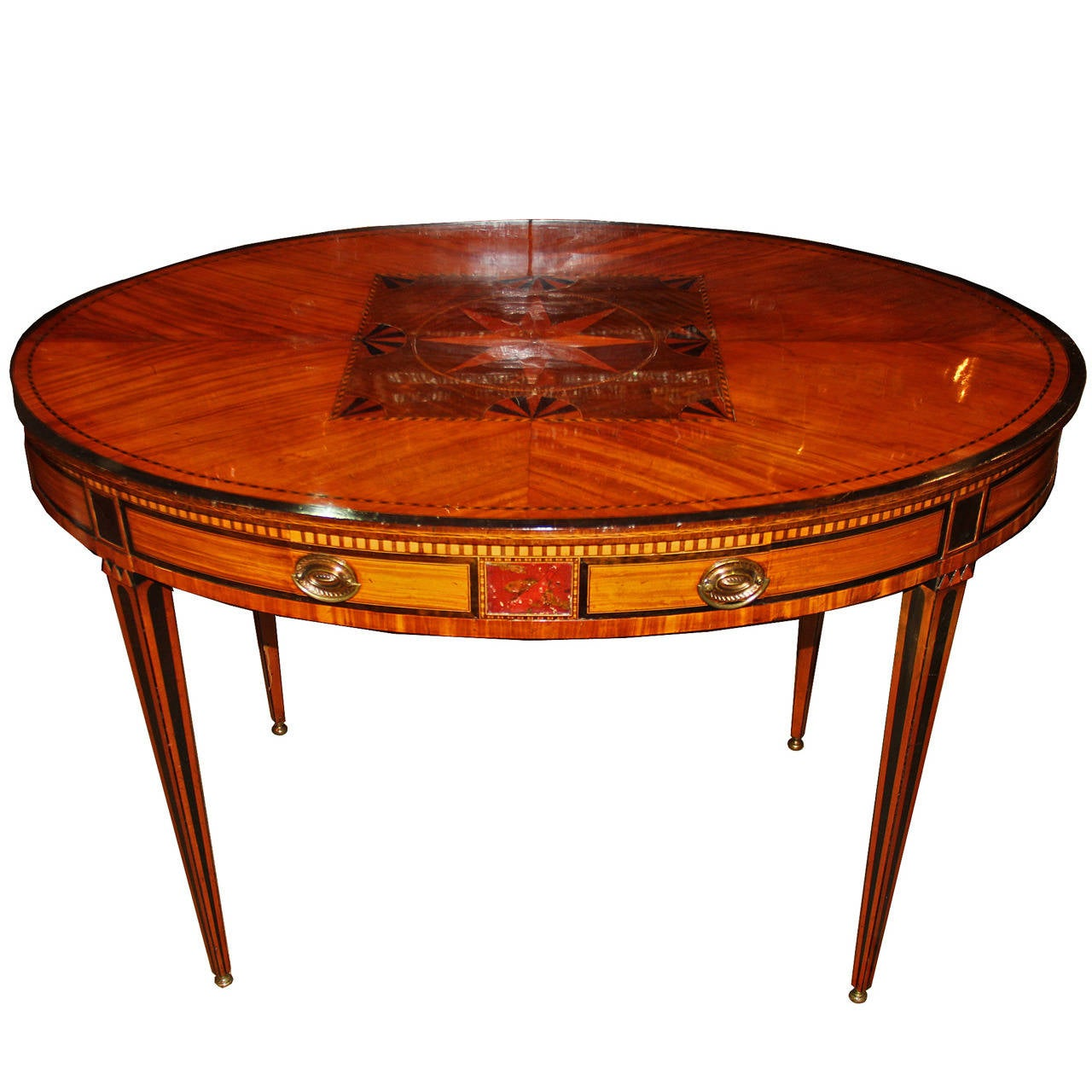 19th century english parquetry center table at 1stdibs for Table th center text