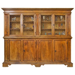 17th Century Tuscan Archival Bookcase or Dining Room Cabinet