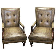 Important Pair of Georgian Gainsborough Chairs
